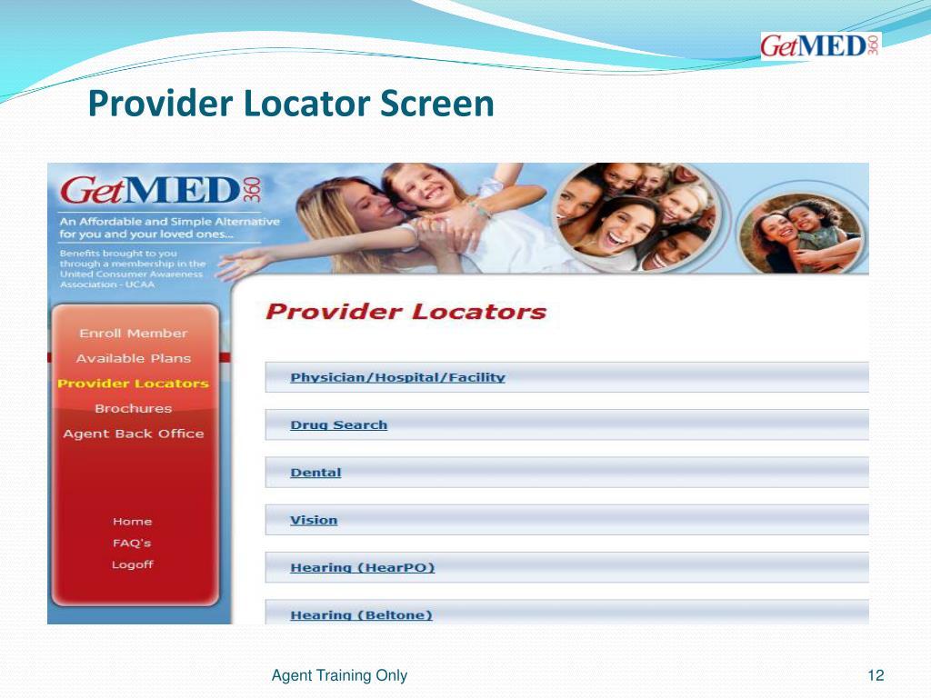 Provider Locator Screen