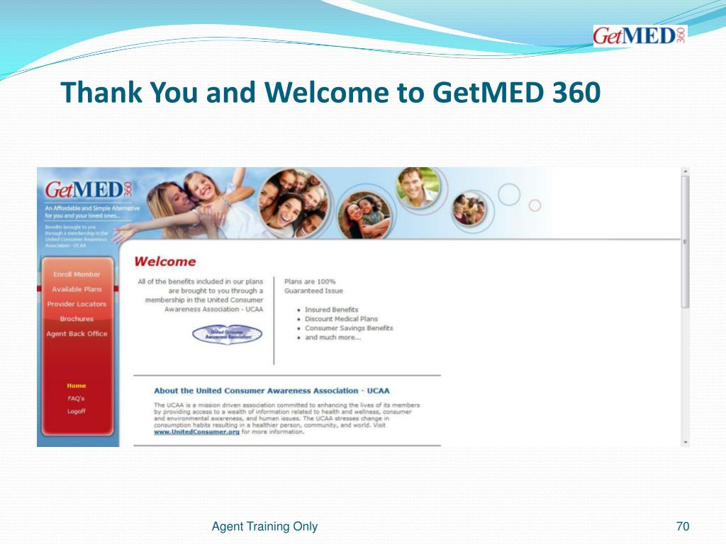 Thank You and Welcome to GetMED 360