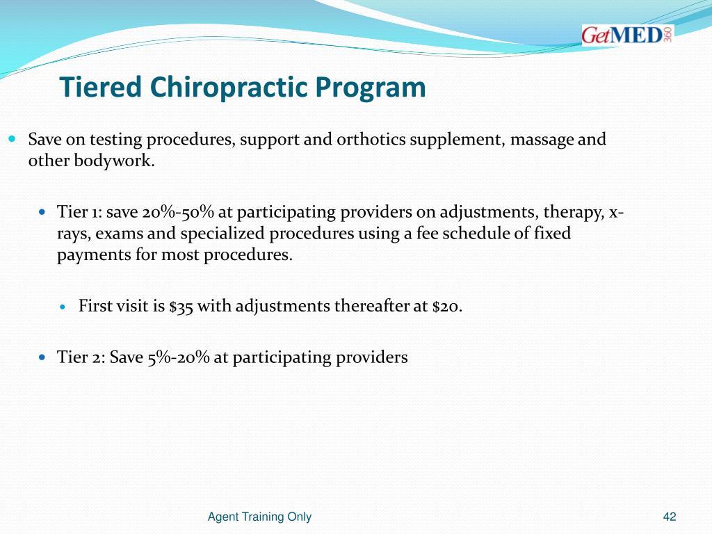 Tiered Chiropractic Program