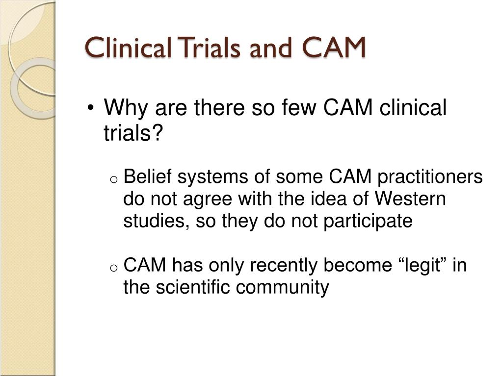 Clinical Trials and CAM