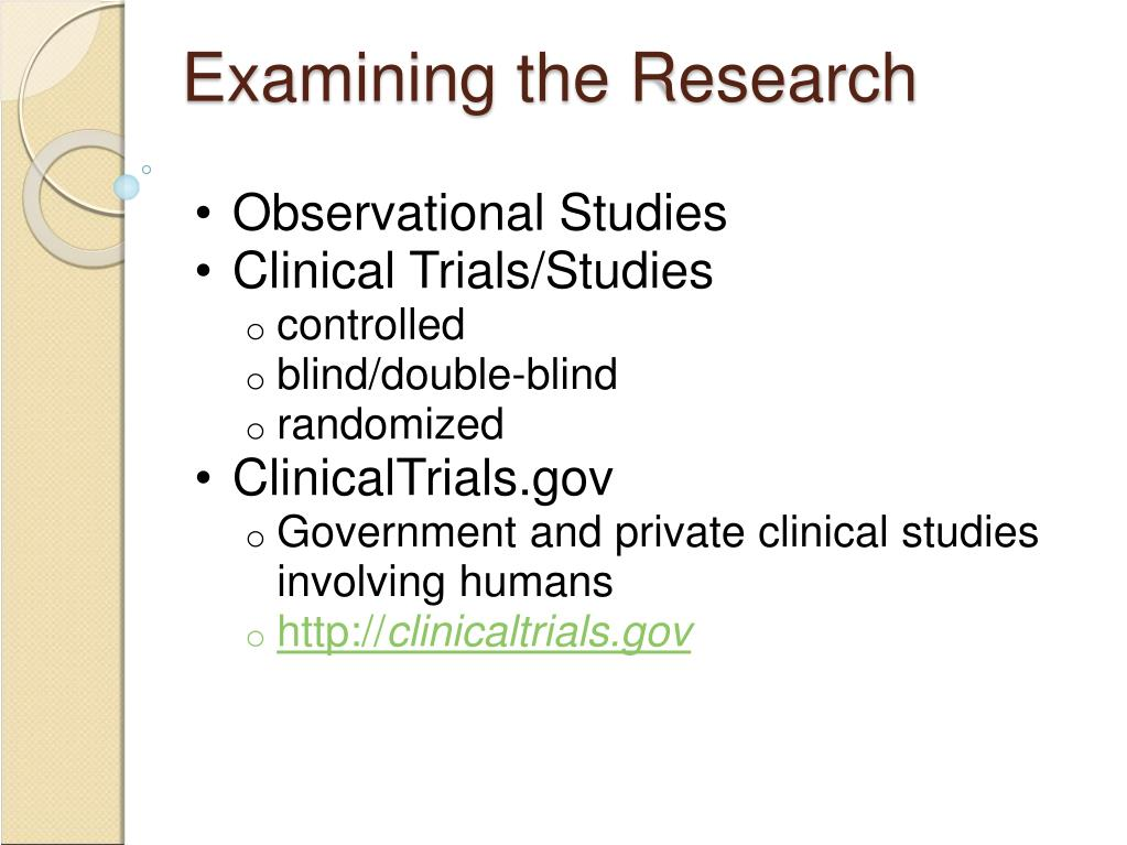 Examining the Research