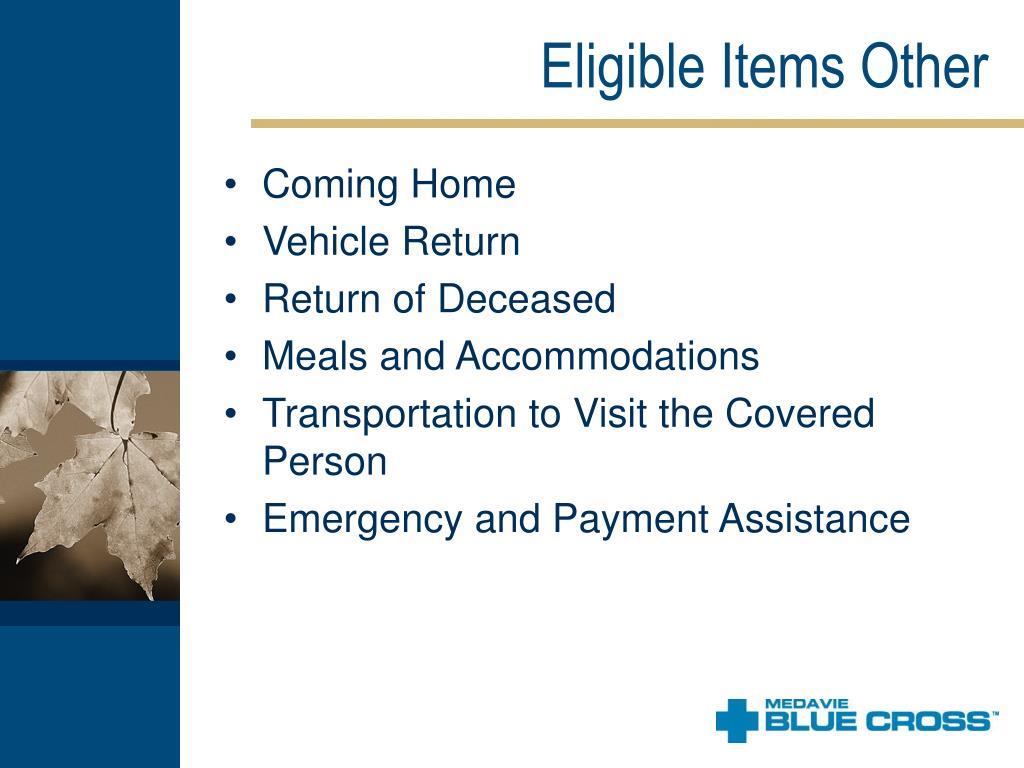 Eligible Items Other