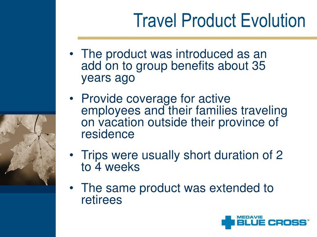 Travel Product Evolution