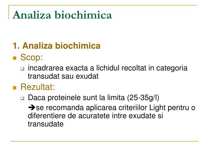 Analiza biochimica