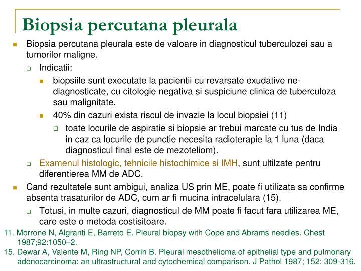 Biopsia percutana pleurala