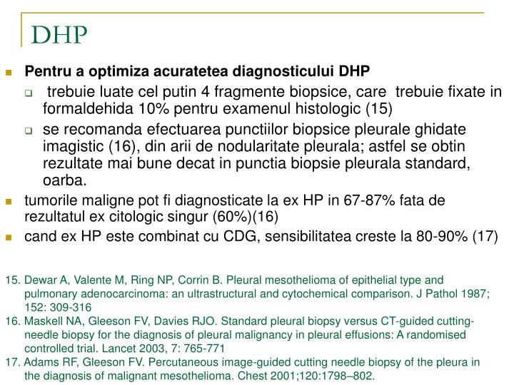 Pentru a optimiza acuratetea diagnosticului DHP