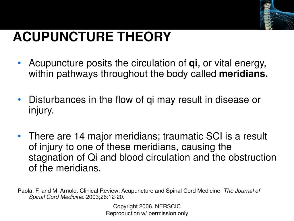ACUPUNCTURE THEORY