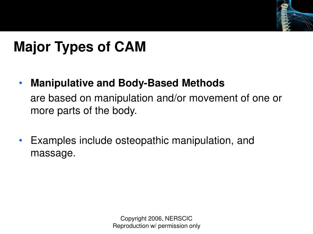 Major Types of CAM