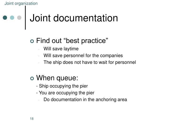 Joint organization