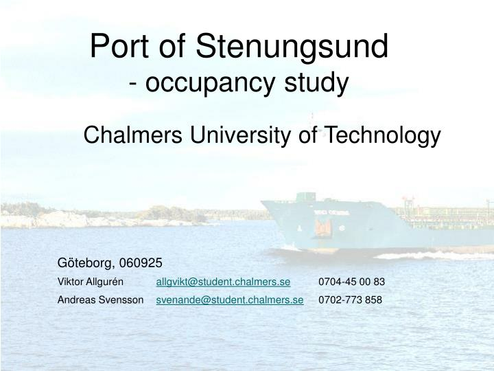Port of Stenungsund