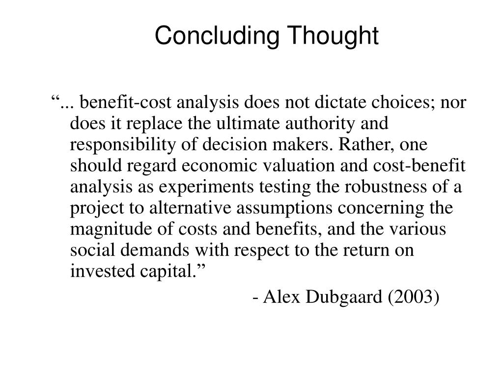 Concluding Thought