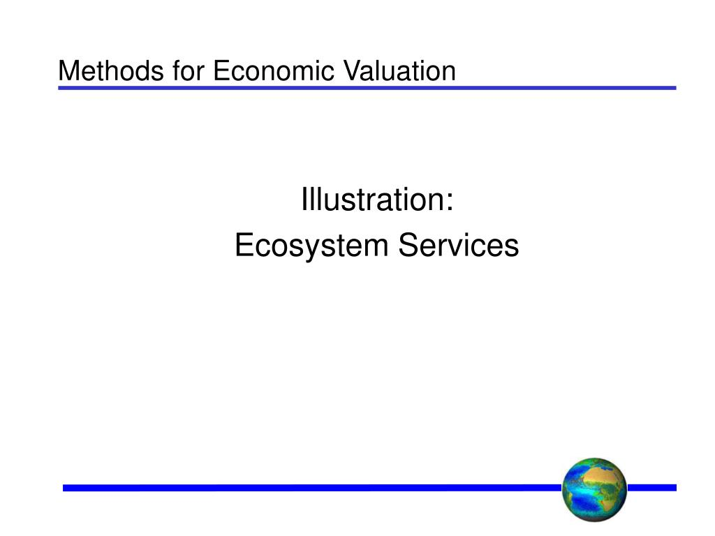 Methods for Economic Valuation