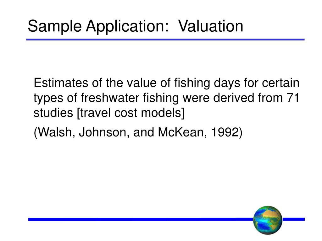 Sample Application:  Valuation