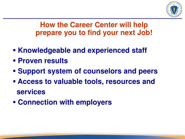 How the Career Center will help
