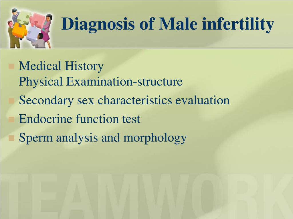Diagnosis of Male infertility