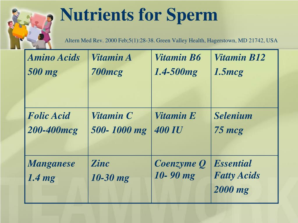 Nutrients for Sperm