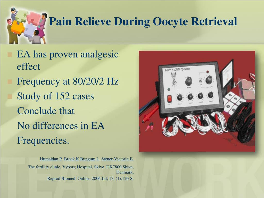 Pain Relieve During Oocyte Retrieval