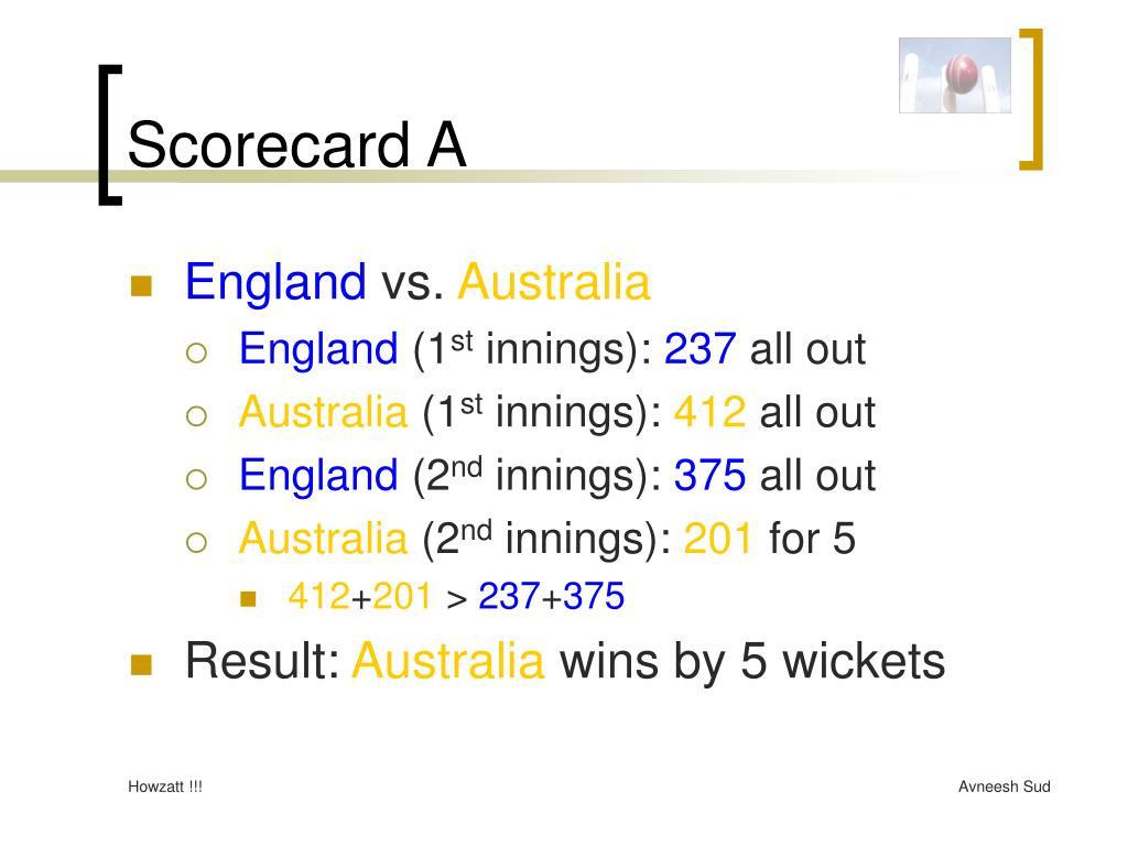Scorecard A
