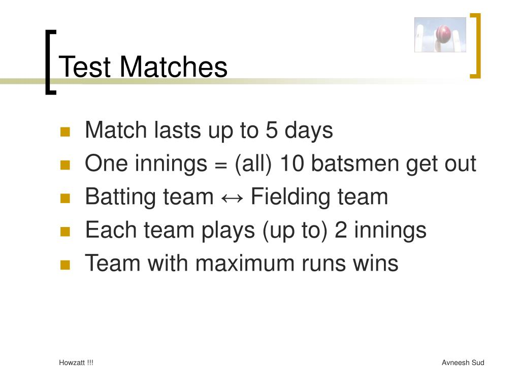 Test Matches
