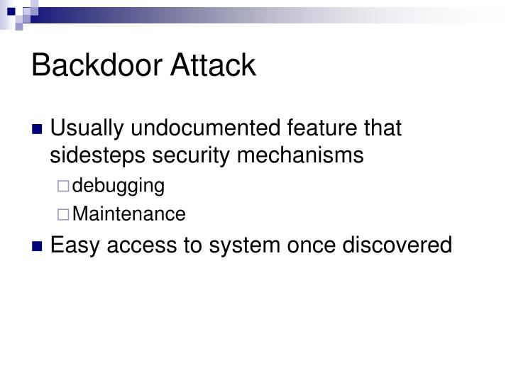 Backdoor Attack
