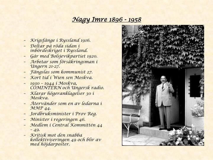 Nagy Imre 1896 - 1958