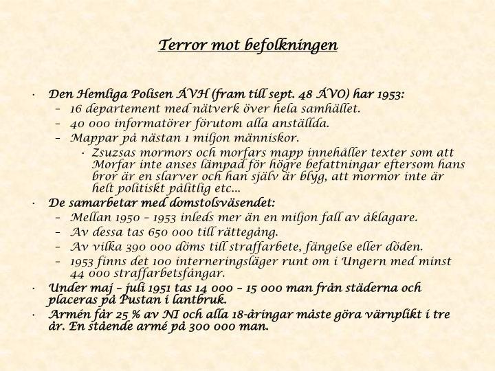 Terror mot befolkningen