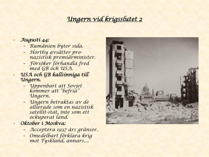 Ungern vid krigsslutet 2
