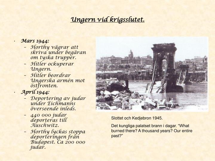 Ungern vid krigsslutet.