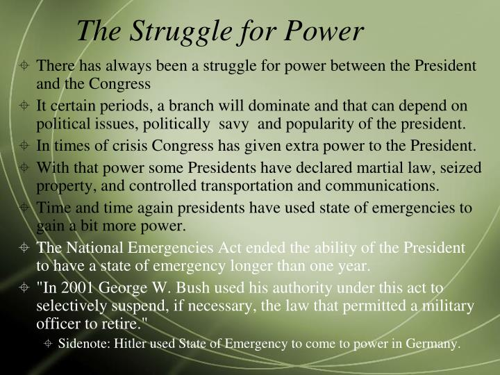 The Struggle for Power