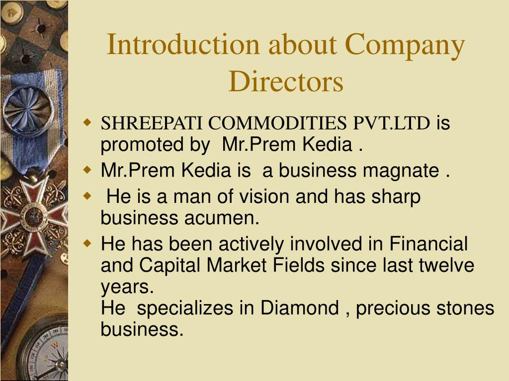 Introduction about Company