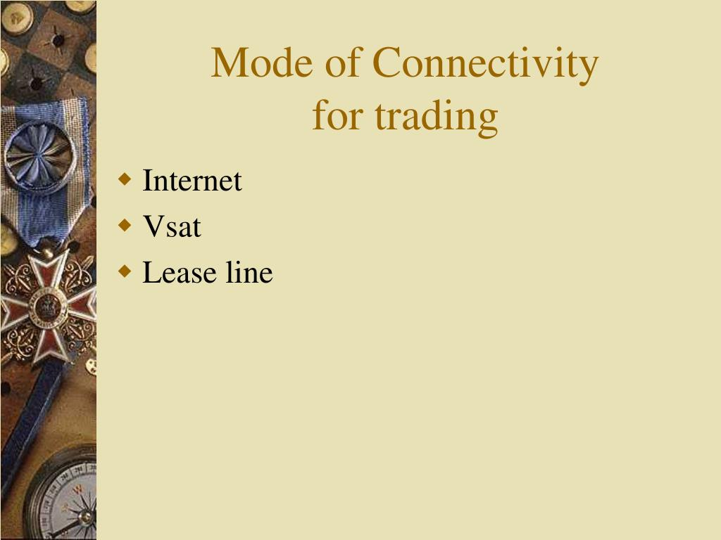Mode of Connectivity