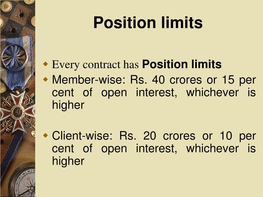 Position limits