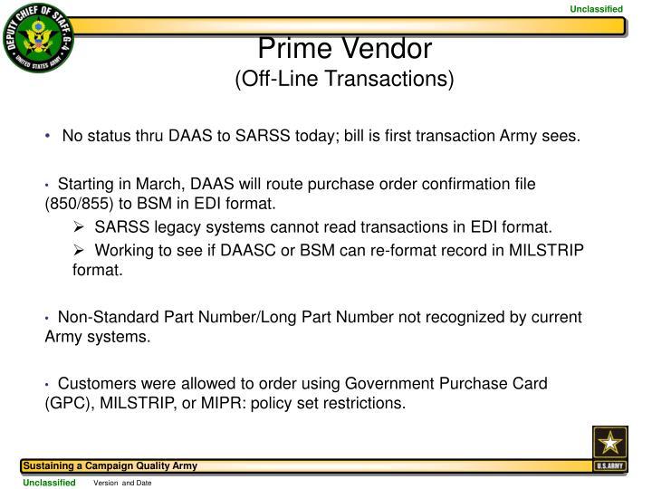 Prime Vendor