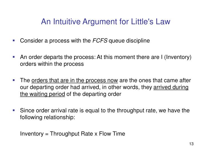 An Intuitive Argument for Little's Law