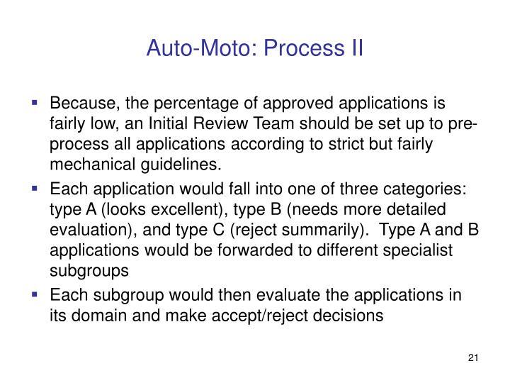 Auto-Moto: Process II