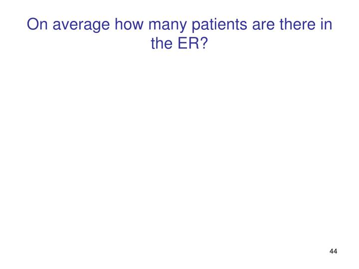 On average how many patients are there in the ER?