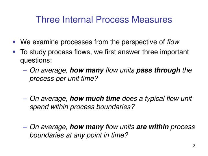 Three internal process measures