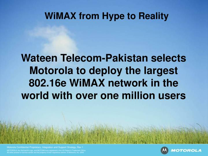 WiMAX from Hype to Reality