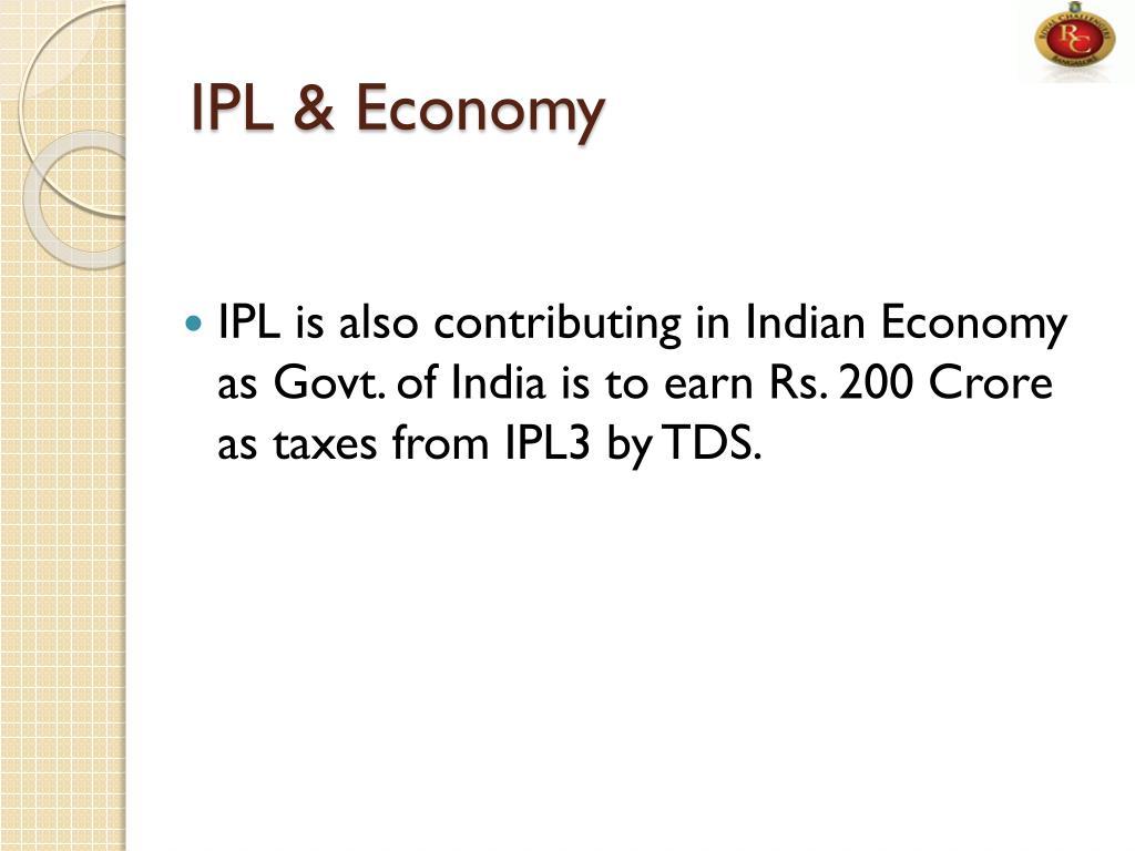 IPL & Economy
