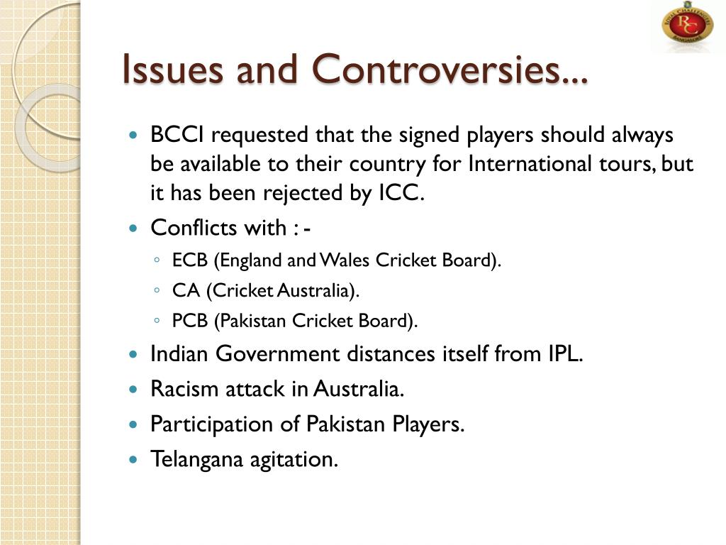 Issues and Controversies...