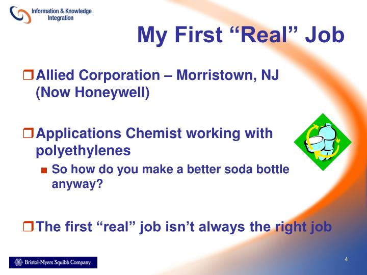 """My First """"Real"""" Job"""