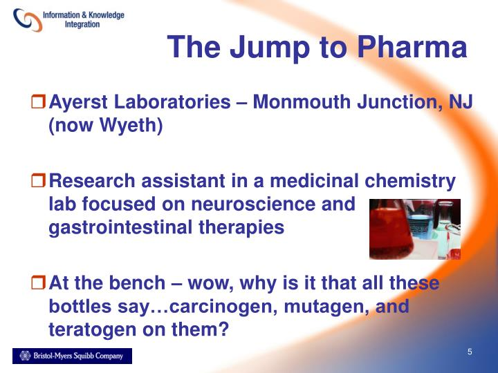 The Jump to Pharma