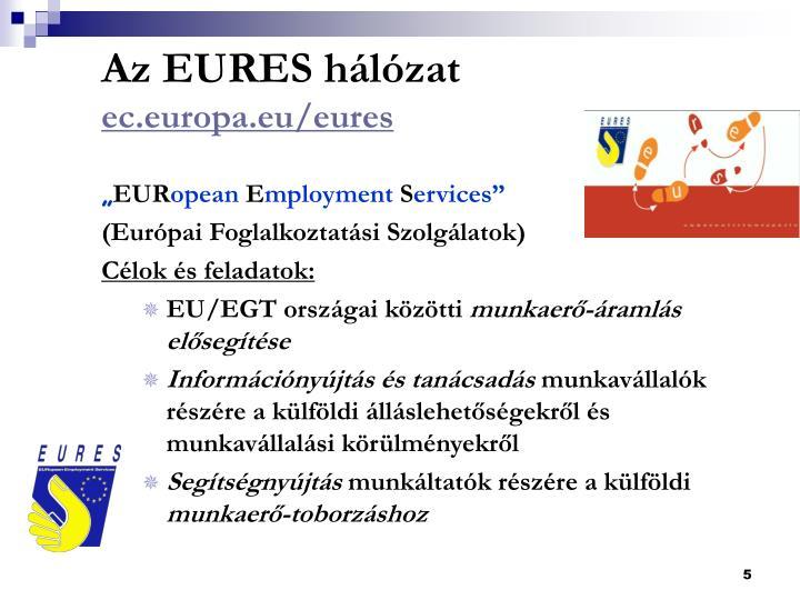 Az EURES hálózat