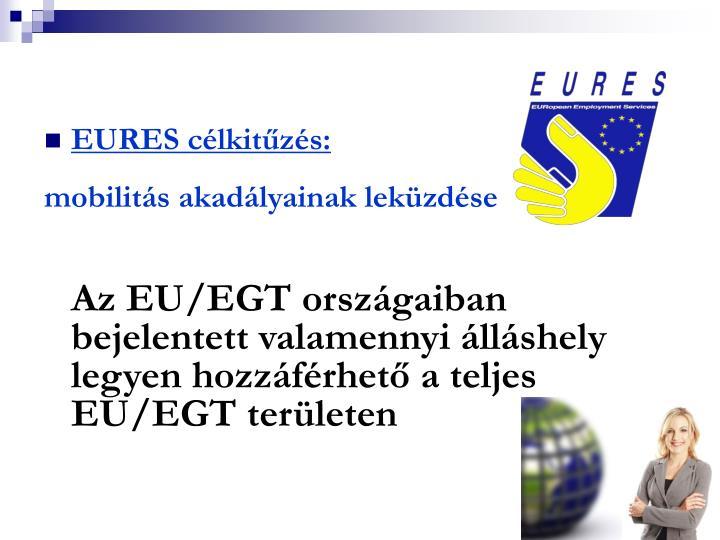 EURES célkitűzés: