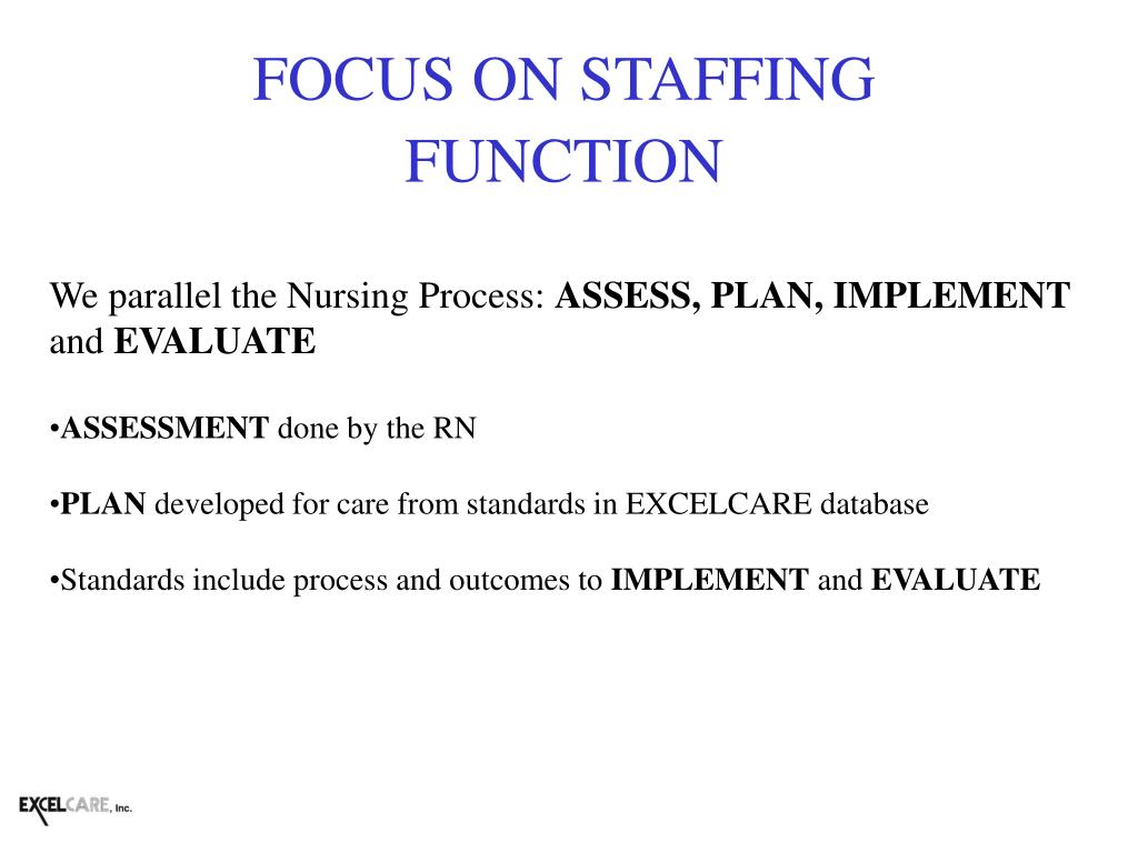 FOCUS ON STAFFING FUNCTION