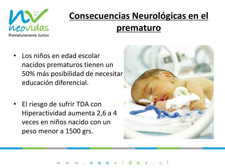 Consecuencias Neurológicas en el prematuro
