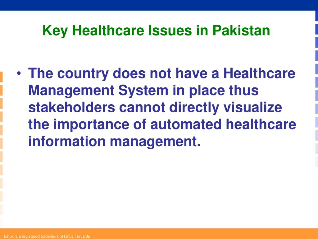 Key Healthcare Issues in Pakistan