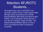attention afjrotc students