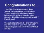 congratulations to