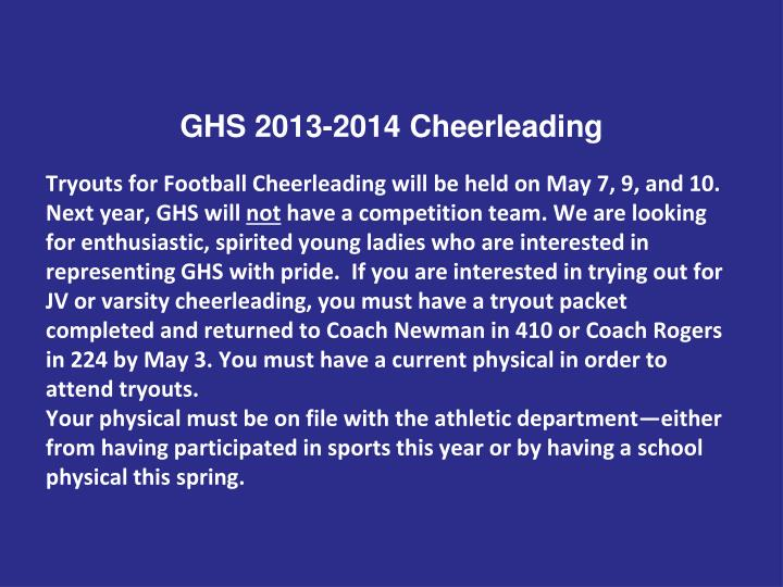 GHS 2013-2014 Cheerleading